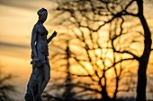 France, Paris, area listed as World Heritage by UNESCO, Statues at the Tuileries gardens