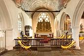France, Côtes-d'Armor, Châtelaudren, interior of chapel Notre Dame du Tertre