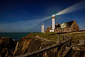 France, Finistere, Plougonvelin, Pointe Saint Mathieu classified as Historic Monuments