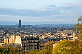 Frankreich, Paris, Panoramablick vom Montmartre-Hügel