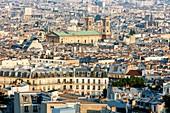 Frankreich, Paris, Montmartre-Hügel, Panoramablick auf Paris