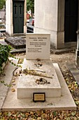 France, Paris, Montparnasse Cemetery, Georges Wolinski Tomb , Cartoonist and French writer, assassinated in the attack against Charlie Hebdo