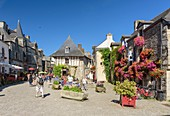 France, Morbihan, Rochefort en Terre, labelled Les Plus Beaux Villages de France (The Most Beautiful Villages of France), castel street