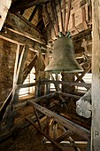 France, Aveyron, Parc Naturel Regional des Grands Causses (Natural Regional Park of Grands Causses), Millau, the belfry bell
