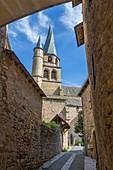 France, Aveyron, Lot Valley, Saint Come d'Olt, a stop on el Camino de Santiago, labelled Les Plus Beaux Villages de France (The Most Beautiful Villages of France), Saint Come church