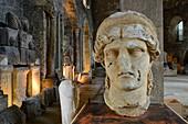 France, Isere, Vienne, Lapidary Museum in Saint Pierre church, antique pieces