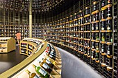 France, Gironde (33), Bordeaux, La cite du Vin (opened June 2016), the shop with wines from around the world