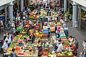 France, Gironde, Bordeaux, area listed as World Heritage by UNESCO, Saint Michel district, the Capuchin market