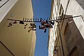 France, Paris, shoe tossing