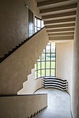 France, Nord, Croix, Villa Cavrois by architect Robert Mallet-Stevens, listed as historical monuments, stairs