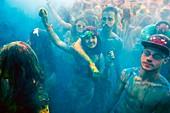 France, Gard, Nimes, Holi Party