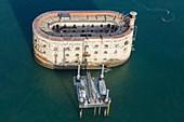 France, Charente Maritime, Boyard fort (aerial view)