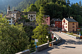 Village at the end of Valle Maggia, Ticino, Switzerland