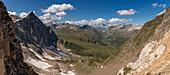 Panorama vom Passo Grandinagia, Finsteraarhorn, Trekking del Laghetti Alpini, Tessin, Schweiz