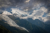 Mont Blanc in Alps, France