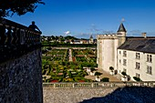 France, Indre et Loire, Loire Valley listed as World Heritage by UNESCO, castle and Gardens of Villandry, built in 16 th century, in Renaissance style (property of Angelique and Henri Carvalho)