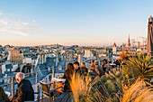 France, Paris, general view from the Terrasse du 43 up the Roof