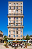 France, Seine Maritime, Le Havre, city center listed as World Heritage by UNESCO, Rue Victor Hugo, islet consisting of a Building without Individual Assignment (ISAI) designed by Auguste Perret between 1946 1950