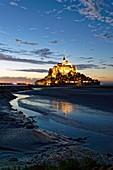France, Manche, Mont Saint Michel Bay listed as World Heritage by UNESCO, Mont Saint Michel