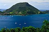 France, Guadeloupe, Les Saintes archipelago, Terre-de-Haut, Les Saintes bay is the third most beautiful bay in the world