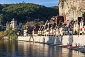 France, Dordogne, La Roque Gageac, labeled the most beautiful villages of France