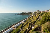 France, Pyrennees Atlantique, Basque Country, Biarritz, beach of the Basques, the corniche