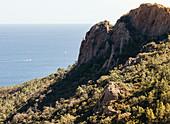 Im Esterel Küstengebirge, bei Agay, Stadtteil von Saint Raphael, Provence-Alpes-Côte d'Azur, Côte d'Azur, Frankreich