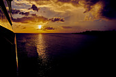 Sonnenuntergang vor Martinique, Karibik, Mitelamerika