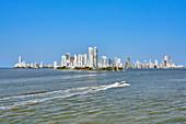 Silhouette von Cartagena, Kolumbien, Mittelamerika