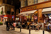 France, Gironde, Bordeaux, area listed as World Heritage by UNESCO, Fernand Lafargue place, L'Apollo bar