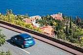 France, Alpes-Maritimes, corniche of Estérel, Théoule-sur-Mer, tourist route of the Road of the Mimosa