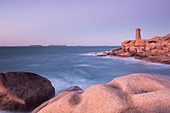 France, Cotes d'Armor, Perros-Guirec, The lighthouse of Ploumanac'h on the pink granite coast
