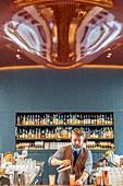 France, Paris, Rue du Bourg l'Abbe, Hotel Les Bains (2015) in the former night club Les Bains Douches, bar