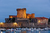 France, Pyrenees Atlantiques, Euskadi, Pays Basque, Ciboure, Socoa, port and harbor at dawn