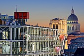 France, Paris, Georges Pompidou center, also called Beaubourg, Notre Dame Cathedral and the Panthéon