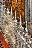 France, Tarn, Albi, listed as World Heritage by UNESCO, Sainte Cecile, Detail of sculpture of the Jube