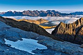 France, Hautes Pyrenees, listed at Great Tourist Sites in Midi Pyrenees, Pyrenees National Park, listed as World Heritage by UNESCO, Gavarnie, Sarradets, Vignemale massif since Sarradets