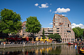 View of the old port 'Oudehaven' and bars of Rotterdam, Holland