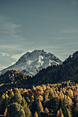 Autumn mountain landscape in the Upper Engadine, Engadin, Switzerland, Europe