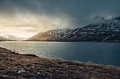 Lago Bianco bei Abendstimmung, Oberengadin, Engadin, Schweiz, Europa