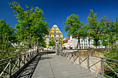Bridge to the New Castle in Ingolstadt, Ingolstadt, Danube Cycle Path, Upper Bavaria, Bavaria, Germany