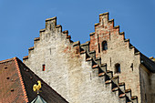 Roofs of old town houses, Straubing, Danube Cycle Path, Lower Bavaria, Bavaria, Germany