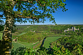 Deep view of the Upper Danube Valley, Upper Danube Valley, Danube Cycle Path, Baden-Württemberg, Germany