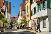 Pedestrian zone in Riedlingen, Riedlingen, Danube Cycle Path, Baden-Württemberg, Germany