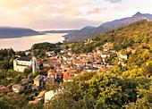 View of Viggiona, Lake Maggiore, Piedmont, Italy