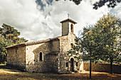 Notre-Dame-de-Mont-Carmel chapel. Châteauneuf-de-Mazenc, Drôme, France