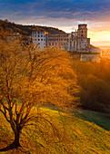 Heidelberg Castle, view from Scheffelterrasse, Heidelberg, Baden-Würtemberg, Germany