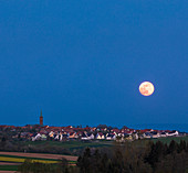 Rising moon, Niefern, Grand Est, Alsace, France