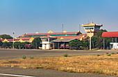 Tower and halls of Nyaung U Airport, Bagan, Myanmar