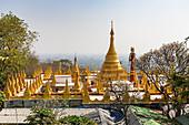 Su Taung Pyae Pagoda at the top of Mandalay Hill, Mandalay, Myanmar